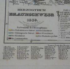 Alt-, Hand- u. Grenzkol. Kupferstichkarte des Herzogthums Braunschweig von 1839