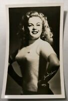 Actress RPPC June Haver Real Photo Post Card Vtg Pin Up Sexy Busty Sweater Girl