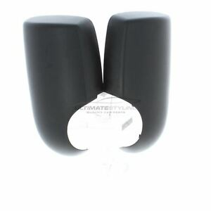Ford Transit MK7 2006-2014 Black Door Wing Mirror Cover Pair Left & Right
