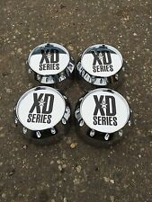 4 NEW KMC XD CENTER CAPS SET OF 4 464K131-2 CHROME 8 LUG HOSS BADLANDS 795 779