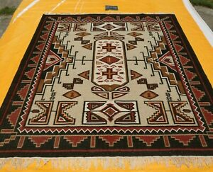 Navajo Kilim Hand Woven Tribal 8x10 ft Turkish Oriental Large Area Rug Southwest