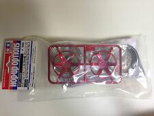 Tamiya 54552 Rouge Plaqué 2 pièces 6 bâtons Roues 26mm Largeur,compensé +4 NIP