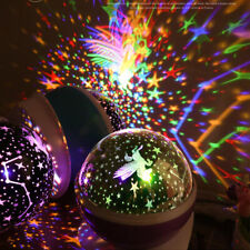 Rotary USB LED Starry Night Light Star Projector Battery Child Bedroom Lamp