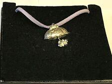 "Parasol Umbrella TG95 English Pewter On 18"" Purple Cord Necklace"