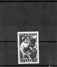 Saar Sc B69(Yt 263)*Vf Nh 1949 8F+2F Blue Black $38