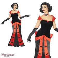 Halloween Vestido De Lujo # señoras Glam Vampiresa Traje Tamaño 8-18