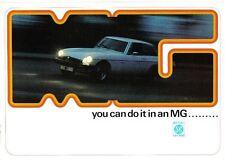 Mg gama Midget Mk Iii Mgb Mgb Gt + V8 Original folleto de ventas Pub N ° 3054 1974