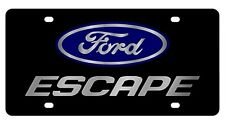 New Ford Escape Blue Logo Acrylic License Plate