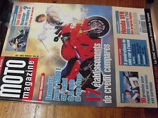 µ? Moto Magazine n°144 Honda VFR 800 vs 750 Yamaha 600 Fazer Course Cote 850 TDM