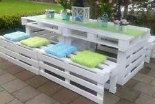 Tavoli con panche in legno con Pallet Bancali EUR  EPAL arredamento 2,40 mt