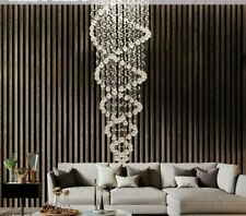 Spiral Crystal Chandeliers Lights Stainless Silver Indoor Dining Room Luxury New