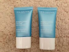 CLARINS HYDRAQUENCH CREAM-MASK 2X15ML IDEAL FOR FLIGHTS/TRAVEL/SAMPLE-RECORDED