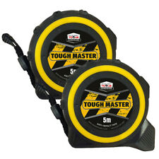 Toughmaster Pocket Tape Measures Metric/Imperial 5M/16ft Anti-Impact Pack of 2