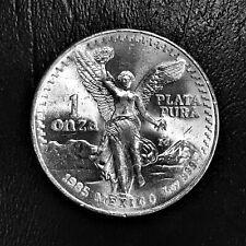 1985 Mexico Libertad 1 oz .999 Silver BU Una Onza Plata Pura