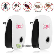 2x Electronic Ultrasonic Anti Pest Repeller Mosquito Bug Cockroach Mouse Killer
