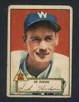 1952 Topps #60 Sid Hudson VG/VGEX Senators 108806