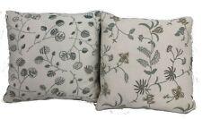 "Chelsea Textiles Pillows Shams Linens Flower White Size 14"" x 14"" Lot Of 2"