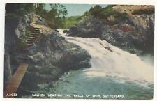 Vintage Postcard (1967) - Salmon Leaping The Falls of Shin, Suther - Posted 2473