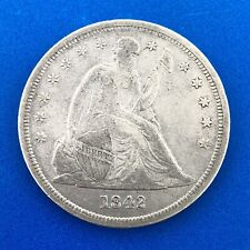 1842 P Silver Seated Liberty Dollar No Motto Philadelphia Mint Luster Nice Coin