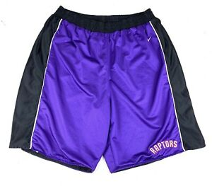 Toronto Raptors NBA Nike Team Basketball Shorts Sz 2XL Purple Black Reversible