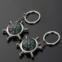 Fashion Compass Metal Car Keyring Keychain Key Chain Ring Keyfob Unisex Gift