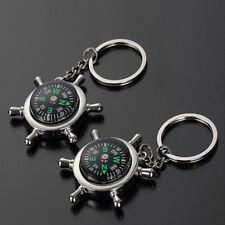 Key Chain Ring Keyfob Unisex Gift Fashion Compass Metal Car Keyring Keychain