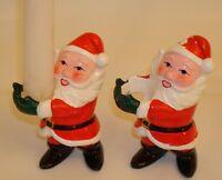 2 Vintage Santa taped candle holders - Sonsco - Japan