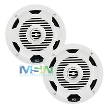 "NEW MTX WET77-W 7.7"" WET Series 2-WAY MARINE AUDIO COAXIAL SPEAKERS WET77W WHITE"
