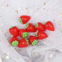 10Pcs 1:12 Dollhouse miniature strawberry doll house kitchen accessories