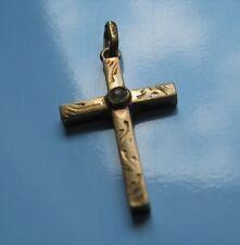 Ciondolo Croce crocetta antica oro 8 kt.