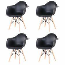 4er Set Sessel Stühle Holzbeinen Esszimmerstühle Bürostuhl Schwarz Küchen Stuhle