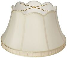 Royal Designs Top Scallop with Gallery Designer Lamp Shade, Eggshell/Ivory 12.5