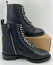 Rebecca Minkoff Women's Janyi Chain Combat Booties Boots Black Size 7.5M