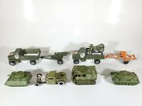 Vintage Hot Wheels Tootsietoy Military US Army Equipment LOT 1/64 Diecast Lot