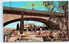 Lake Havasu City Arizona AZ London Bridge Mid Century Picnic Tables Postcard A3