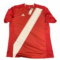 Indiana University IU adidas Soccer Blank S/S Shirt Hoosiers Jersey Sz XL NEW
