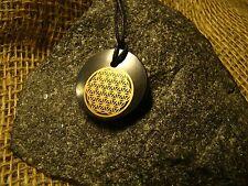 Schungite flower pendant life amulet aura of Karelia mascot