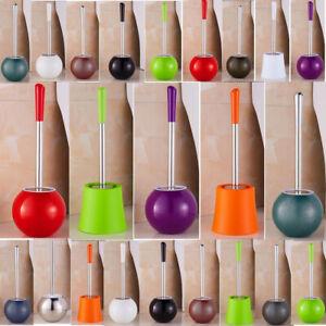 Bowl Holder Stainless Steel Toilet Brush Set Spherical Bathroom Storage Cleaning