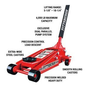 3 Ton Car Heavy Duty Floor Jack Rapid Pump Garage Shop Auto Lifting Auto