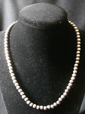 Unique Vintage Sterling Silver Handmade Mexico Bead Necklace  Make Offer!  #1769