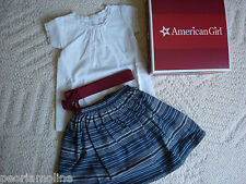American Girl JOSEFINA  SCHOOL OUTFIT  Indigo Skirt & Camisa, Sash NEW retired