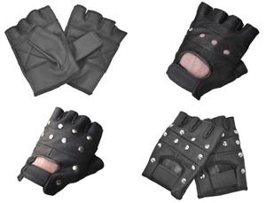 Gothic Leather Gloves Hip Hop Rock Roll Punk Rave Metal Halloween Fashion Unisex
