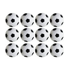 Table Soccer Foosballs Replacements Mini Black and White Soccer Balls 12 Pack