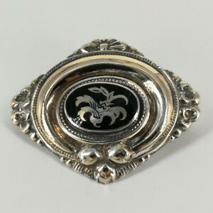 Beautiful Antique Brooch from The 19. Century IN Gold Plated Silver