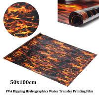 PVA Hydrographic Film Water Transfer Printing Film Hydro Dip Black Flame Fiber