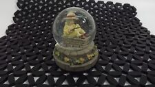 Kim ANDERSON'S Forever YOUNG Glitter Snow Globe Young Girl Sitting w/ Pink Rose
