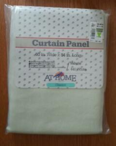 """At Home with Classics CURTAIN PANEL 60"""" W x 84"""" L Valarie 440 White NEW SEALED"""