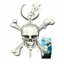 Pirates of the Caribbean * Pewter Skull Keychain * Key Chain Ring Licensed NIP