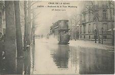 CARTE POSTALE / CRUE DE LA SEINE PARIS BOULEVARD DE LA TOUR MAUBOURG