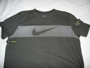 Nike XL t-shirt Hyper Dry Breathe Large Graphic Logo Tng DriFit Gray/Black